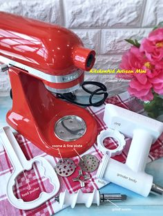 Artisan Mini Tilt-Head Stand Mixer - Food Grinder Attached
