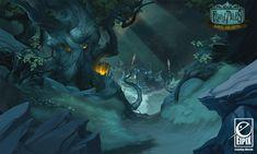 Fearful Tales - Forest Entrance, Vanja Todoric on ArtStation at http://www.artstation.com/artwork/fearful-tales-forest-entrance