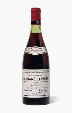 Domaine de la Romanée-Conti, Romanée-Conti 1969. 1 bottle per lot. Estimate £5,000-7,000. This lot is offered in Fine and Rare Wines from The Avery Family Cellar on 20 October 2016 at Christie's in London, King Street