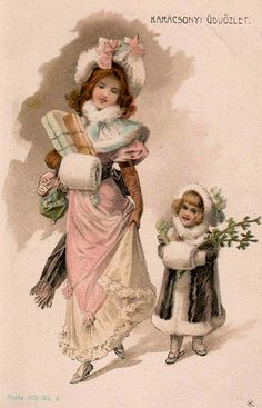 Victorian Lady and Girl