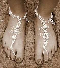 Wedding shoes - perfect for a beach wedding or renewal of vows!