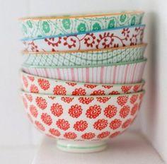 Anthropologie mismatching bowls