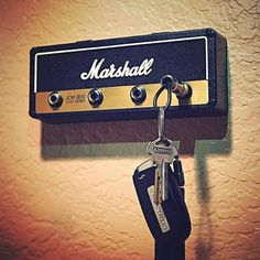 Marshall Guitar Amp Key Holder Version 2 Hang your keys like a Rockstar! Great for your house man cave recording studio and more! Shut up and give me the. Guitar Keys, Guitar Room, Guitar Amp, Drum Room, Music Guitar, Man Cave Diy, Man Cave Home Bar, Telephone Retro, Music Man Cave