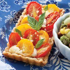 Tomato & feta tart: http://www.teatimemagazine.com/uploadedFiles/Tea_Time/Indulgences/Savories/Tomato-Feta%20Tarts.pdf