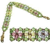 Spring Bracelet Pattern by Deborah Roberti at Bead-Patterns.com