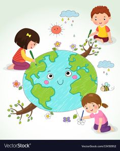 Cute boy drawing with colorful pencils Royalty Free Vector Image - VectorStockFind Vector illustration of kIds drawing the Earth stock vectors and royalty free photos in HD. Cute Boy Drawing, Drawing For Kids, Free Vector Images, Vector Free, Kids Vector, Earth For Kids, Earth Drawings, School Frame, Board Decoration