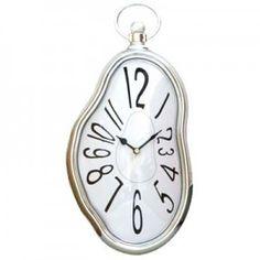 Horloge fondue blanche
