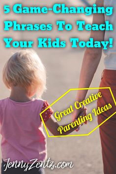 5 Game-Changing Phrases To Teach Your Kids Today! _________________________________________ Christian mom blogger | Christian parenting | family | tantrums | attitude | kids | toddlers