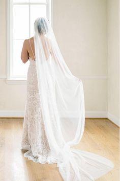 Soft English Net Veil Wedding Single Long Tulle
