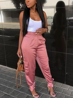 Pink Tied Ankle Pants are my favorite piece In This outfit 💕 Look Fashion, Autumn Fashion, Girl Fashion, Fashion Outfits, Womens Fashion, Fashion Design, Fashion Trends, Fashion Tips, Fashion Ideas