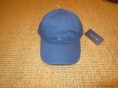 85f1e926 NEW TOMMY HILFIGER LOGO BASEBALL CAP HAT BLUE SPORT CLASSIC #TommyHilfiger # BaseballCap