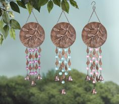 Grasslands Road Rustling Leaves with Bells Moon Branch Wind Chime Assortment #MoonBranchBells #Metal #AcrylicGems #NoiseMakers #GrasslandsRoad #GardenRetreat #GardenDecor Great quality and look beautiful to hang on deck or near patio