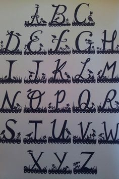 Rob Ryan - Similar to my cut out type I am using for the names of islands however for mine I will need to link all the letters together otherwise it will all fall out of my map in one piece
