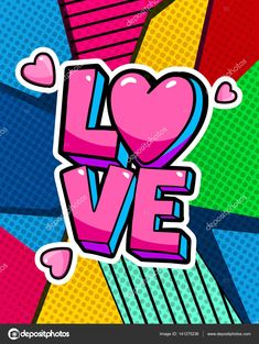 Love you word bubble. Message in pop art comic style. Pop Art Wallpaper, Heart Wallpaper, Pop Art Drawing, Art Drawings, Modern Pop Art, Bd Comics, Art Lessons Elementary, Aaliyah, Simple Art