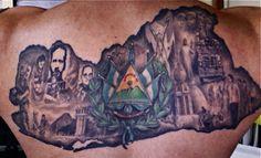 El Salvador Tattoo Back Piece