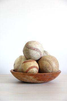 vintage collection of old baseballs / via wretchedshekels on Etsy