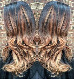 Beautiful #balayage #tones. #haircolor #goldwell #elumen #longhair #curls #njhairstylist #colormechristine #njbesthair #americansalon #modernsalon #behindthechair #angelofcolour #stylistsshopconnect #stylistssupportingstylists #njhairsalon #Cranford #summit #Westfield #nj #SofisCrew #sofiscolorlounge @colormechristine