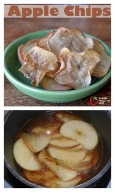 Apple Chips - a new twist to eating apples! http://www.superhealthykids.com/apple-chips/