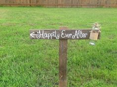 Happily ever after Rustic wedding sign with jar!! @mdeanna123