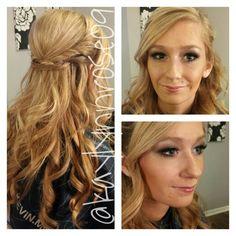 #wedding #updo #airbrush #makeup Www.styleseat.com/kaylynnhosch