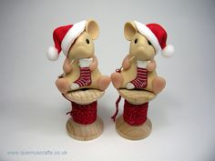 Little Santa Sewing Mouse (£22.50)