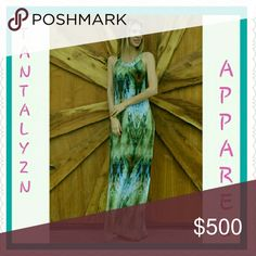 """Sale-RAINFOREST MAXI 95% Polyester 5% Spandex. Length 58"""" Perfect for transition into Fall. Put it with a blazer for work, a denim jacket for play. Dresses Maxi"""