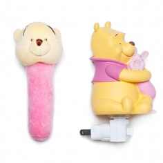 Sweet Pooh Night Light and Plush Rattle Gift Set for my moth Layna has a winnie the pooh room at her house