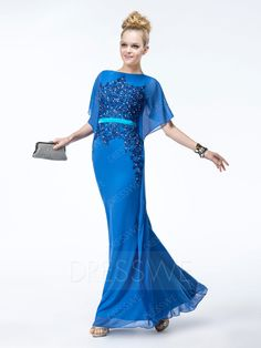 Buy Sheath Appliques Bateau Floor-Length Charming Evening Dress Online, Dresswe.Com offer high quality fashion,Price: USD$129.49