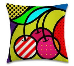 iconic cherry pop-art pop art modern fruits vector illustration for design Clipart, Pop Art Drawing, Art Drawings, Pop Art Fotos, Pop Art Essen, Illustration Pop Art, Fruit Vector, Modern Pop Art, Atelier D Art