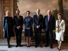 Crown Princess Mette-Marit, Crown Prince Haakon, Catherine Duchess of Cambridge, William Duke of Cambridge, King Harald, Queen Sonja