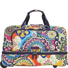 Vera Bradley Lighten Up Wheeled Carry-on - eBags.com