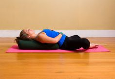 Restorative Yoga | Reclining Butterfly Pose is the perfect elixir for tight inner thighs or anyone struggling with uncomfortable menstruation pains. #benefitnessdaytona