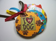 Dog Mini Album Dog Scrapbook Dog Brag Book by HampshireRose