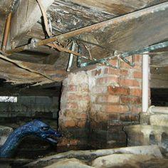 Crawl Space Repair, Crawl Spaces, Foundation Repair, Mobile Home, Indoor Air Quality, Basement Ideas, Floors, Creepy, Home Improvement