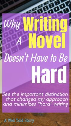 """""""Writing is hard."""" At least, that's what a lot of writers say. See how you can change your thinking and avoid """"hard"""" writing! Writing Words, Writing Poetry, Fiction Writing, Writing Advice, Writing Resources, Blog Writing, Writing Help, Writing A Book, Start Writing"""