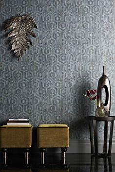 Quartz From Prestigious Textiles Elementu0027s Range Is A Contemporary Vinyl  Wallpaper Featuring A Bold Geometric Pattern