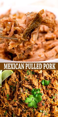 This delicious Slow Cooker Pork Carnitas recipe is tender and juicy, yet simple to make. Mexican pulled pork is great to have on hand for carnitas tacos, burrito bowls, salads, sandwiches and more.