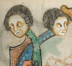 Detail from The Luttrell Psalter, British Library Add MS 42130 (medieval manuscript,1325-1340), f169r