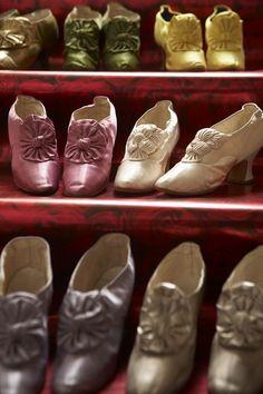 35.Schoenen, in verschillende kleuren, van tsarina Maria Fjodorovna, 1880-1890, op Franse hakken
