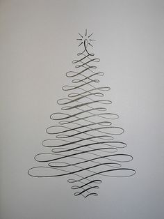 All sizes | Flourish Friday - Calligraphy Christmas Tree | Flickr - Photo Sharing!