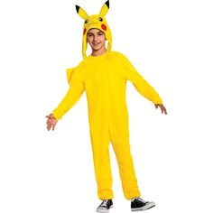 Pikachu Hat, Pikachu Costume, Spirit Halloween, Halloween Costumes For Kids, Pokemon Costumes For Boys, Pokemon Halloween, Yellow Jumpsuit, Nintendo Pokemon, Boy Costumes