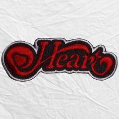 Heart Logo Embroidered Patch Rock Band Ann Nancy Wilson Ben Smith Hard Heavy