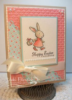 Stampin Up Everybunny It's a Stamp Thing: SC369....Happy Easter Bunny