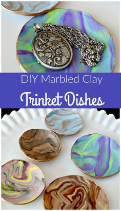 copy craft marbled clay dish