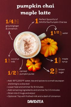 Pumpkin Chai latte season is here! Here is a DIY that risks good . - Boissons et smoothie - coffee Recipes Pumpkin Smoothie, Apple Smoothies, Sugar Pumpkin, Pumpkin Spice, Tea Recipes, Coffee Recipes, Pumpkin Recipes, Pumpkin Chai Latte Recipe, Espresso Recipes