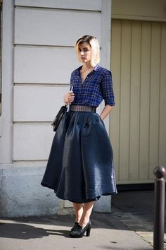 i CLEARLY need a midi skirt (via Anne Catherine Frey - Paris Street Style 3 - The Cut)