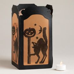 Cat with Post Tabletop Luminary