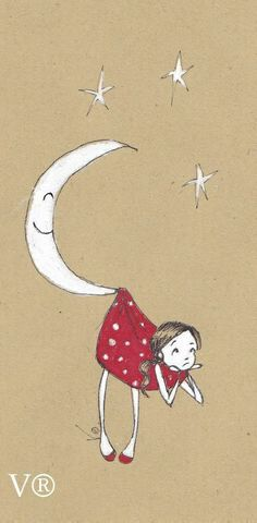 Girl saved by the Moon