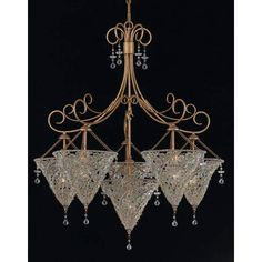 Signature Peridot Crystal Six Light Chandelier Crystorama Lighting Group Glass Shade Chand