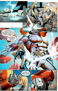 Magik and Colossus Marvel And Dc Characters, Marvel Comic Books, Comic Book Characters, Marvel Dc Comics, Marvel Heroes, Comic Character, Comic Book Layout, Marvel Fan, Comic Art